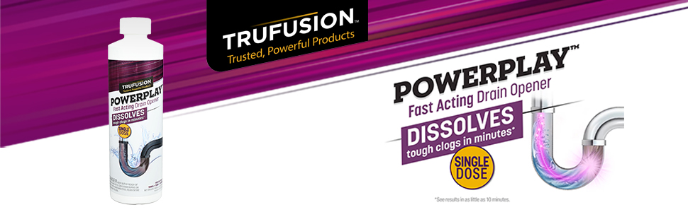 Press Release: TruFusion™ Powerplay Fast Acting Drain Opener, Offered at 30% Holiday Discount at Amazon.com